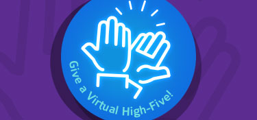 Give an employee a virtual high five
